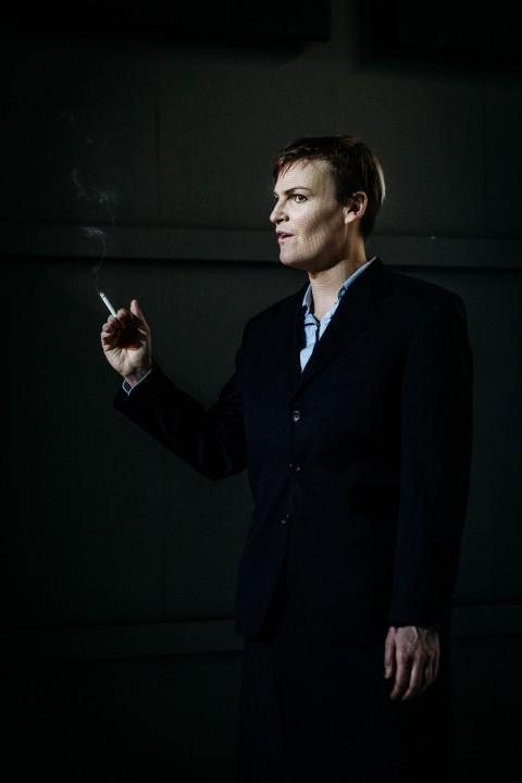 Anna-Karin Håkansson i rollen som talesman för