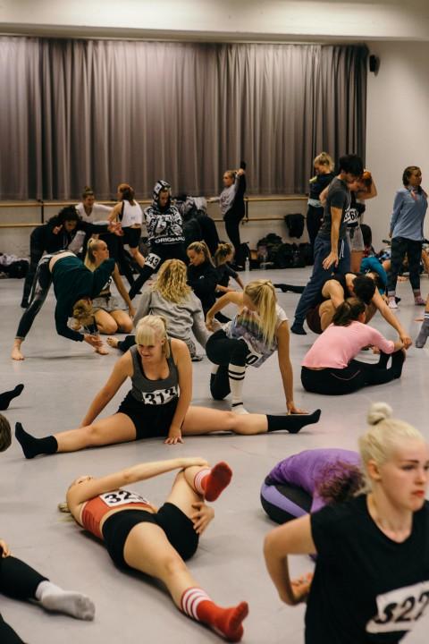 Uppvärmning innan audition
